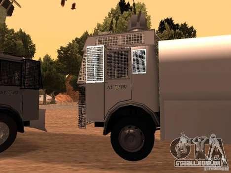 Um canhão de água polícia Rosenbauer v2 para GTA San Andreas esquerda vista