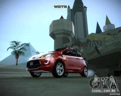 Ford Ka 2011 para GTA San Andreas vista traseira