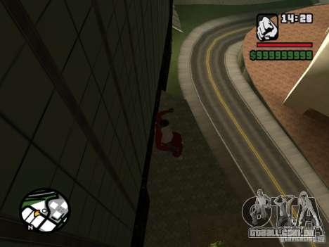 Wallrun infinita correndo na parede para GTA San Andreas terceira tela