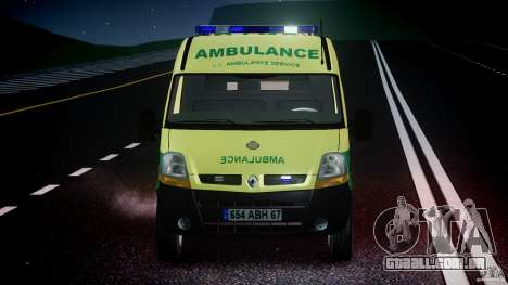 Renault Master 2007 Ambulance Scottish [ELS] para GTA 4 vista inferior