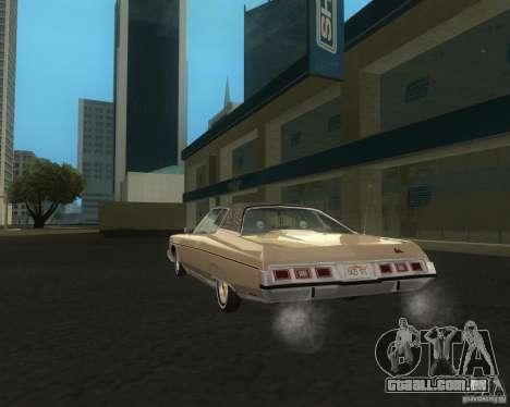 Chevrolet Caprice Classic lowrider para GTA San Andreas traseira esquerda vista