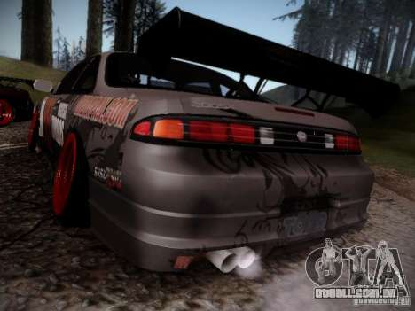 Nissan Silvia S14 Hell para GTA San Andreas traseira esquerda vista