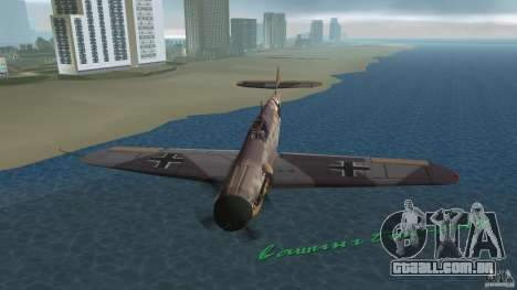 WW2 War Bomber para GTA Vice City vista lateral