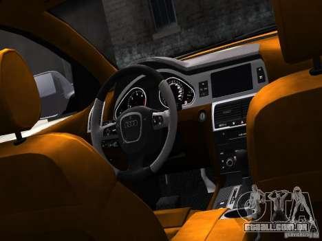 Audi Q7 V12 TDI Quattro Final para GTA 4 vista interior