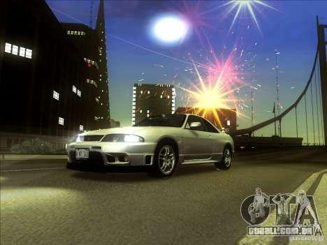 Nissan Skyline GTR BNR33 para GTA San Andreas esquerda vista