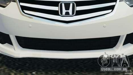 Honda Accord Type S 2008 para GTA 4 vista superior