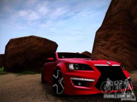 Holden HSV GTS para GTA San Andreas traseira esquerda vista