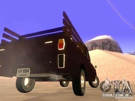 Mazda Familia 800 Pickup para GTA San Andreas traseira esquerda vista