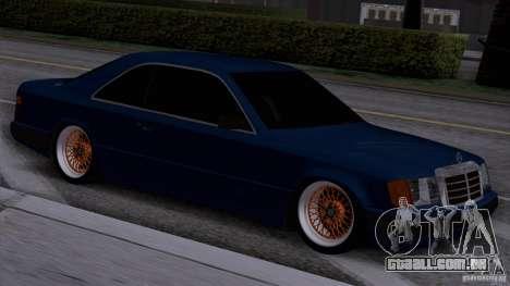 Mercedes-Benz W124 Low Gangster para GTA San Andreas traseira esquerda vista
