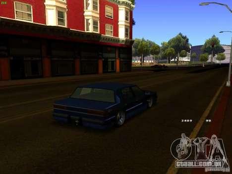 Willard Drift Style para GTA San Andreas traseira esquerda vista