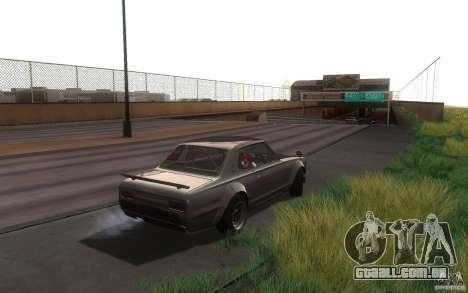Nissan 2000GTR V2 para GTA San Andreas traseira esquerda vista