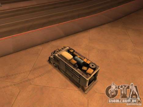 Monster Van para GTA San Andreas traseira esquerda vista
