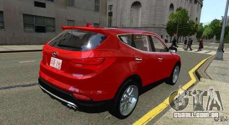Hyundai Santa Fe Sport 2013 para GTA 4 traseira esquerda vista