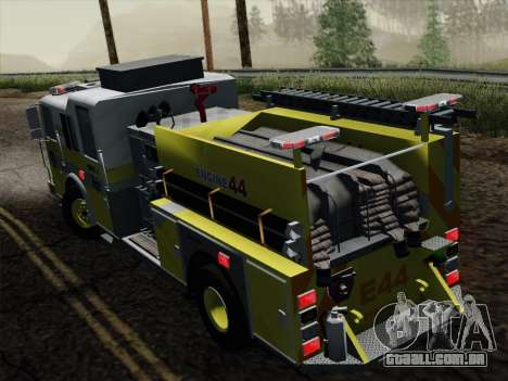 Seagrave Marauder II BCFD Engine 44 para GTA San Andreas vista traseira