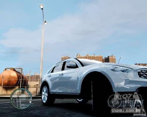 Infiniti FX50 para GTA 4 vista direita