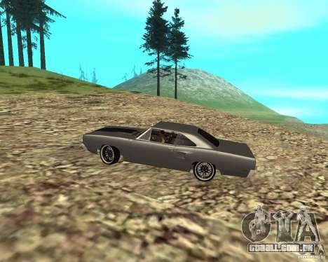 Plymouth Roadrunner 1970 para GTA San Andreas vista traseira