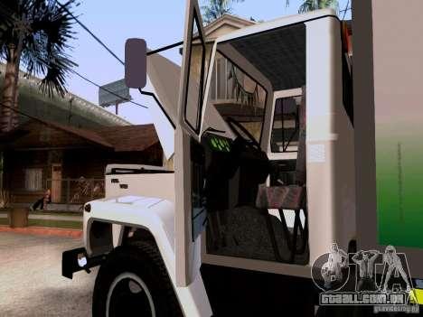 GAZ 3309 para GTA San Andreas vista traseira
