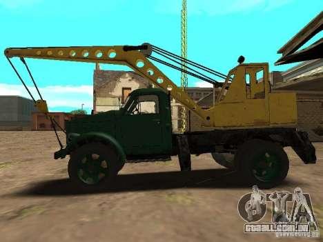 Guindaste móvel de GAZ-51 para GTA San Andreas esquerda vista
