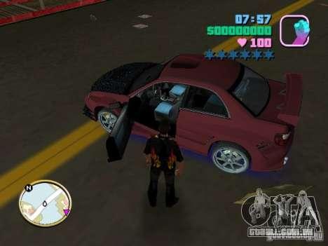 Subaru Impreza WRX STI para GTA Vice City vista traseira esquerda