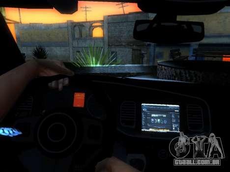 Dodge Charger SRT8 Police para vista lateral GTA San Andreas
