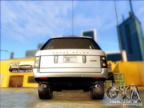 Land-Rover Range Rover Supercharged Series III para GTA San Andreas traseira esquerda vista