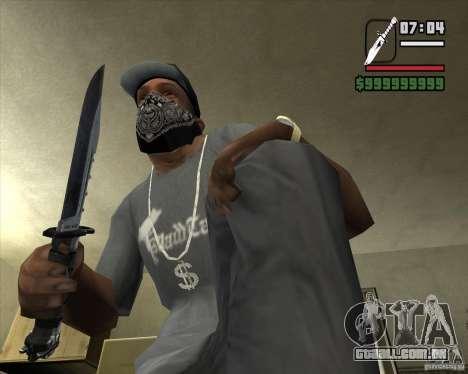 A faca de n º 4 do perseguidor para GTA San Andreas segunda tela
