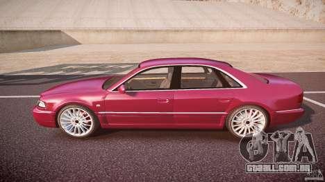 Audi A8 6.0 W12 Quattro (D2) 2002 para GTA 4 esquerda vista