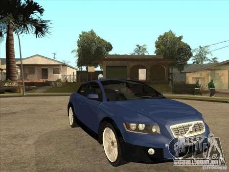 VOLVO C30 Sport 2009 para GTA San Andreas vista traseira