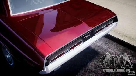 Dodge Challenger 1971 para GTA 4 vista de volta