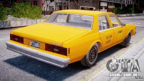 Chevrolet Impala Taxi 1983 para GTA 4 vista direita