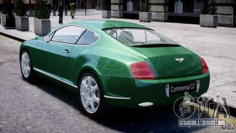 Bentley Continental GT para GTA 4 vista direita