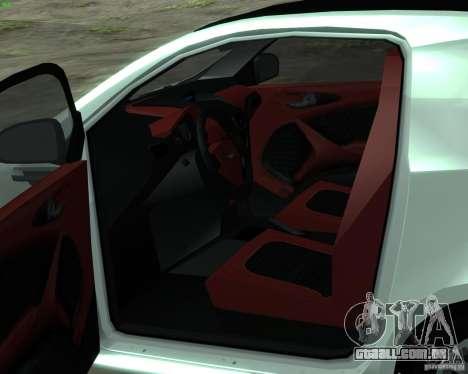 Aston Martin Cygnet para GTA San Andreas vista direita