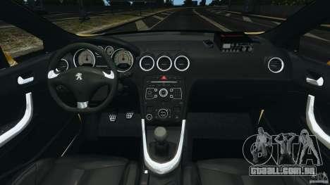 Peugeot 308 GTi 2011 Taxi v1.1 para GTA 4 vista de volta