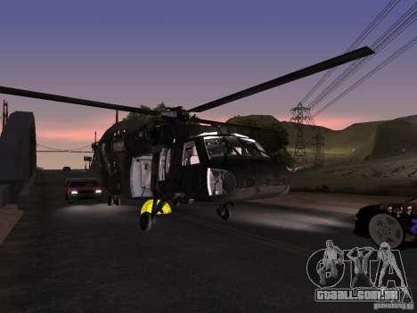O helicóptero de CoD 4 MW para vista lateral GTA San Andreas