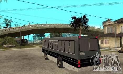 LAZ-4202 para GTA San Andreas traseira esquerda vista