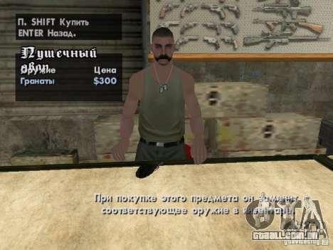 Armas de Pak domésticos para GTA San Andreas nono tela