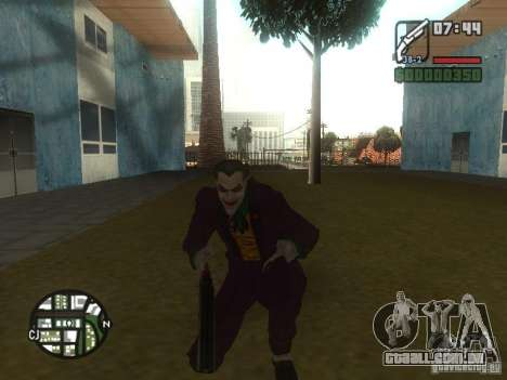 HQ Joker Skin para GTA San Andreas terceira tela