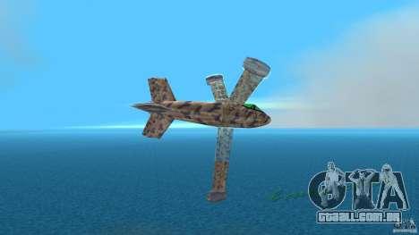 Conceptual Fighter Plane para GTA Vice City vista traseira esquerda