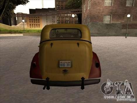 Shubert táxi de MAFIA 2 para GTA San Andreas vista direita