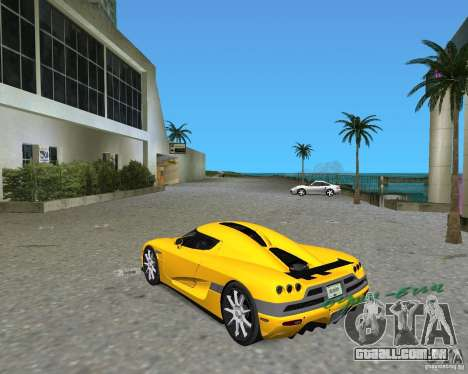 Koenigsegg CCX para GTA Vice City deixou vista