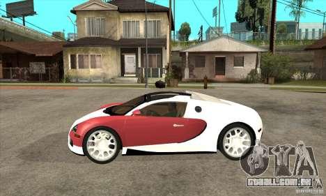 Bugatti Veyron Grand Sport para GTA San Andreas esquerda vista