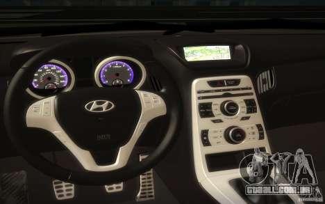 Hyundai Genesis 3.8 Coupe para GTA San Andreas vista interior