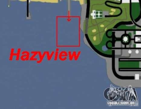 Hazyview para GTA San Andreas por diante tela