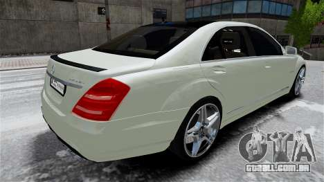 Mercedes-Benz S65 AMG LONG 2010 para GTA 4 vista interior