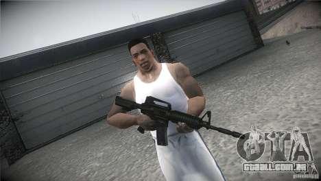 M4A1 para GTA San Andreas por diante tela