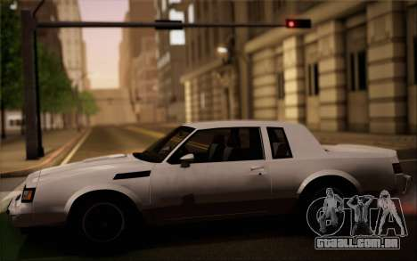Buick GNX 1987 para GTA San Andreas vista interior