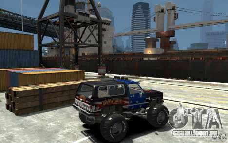 Chevrolet Blazer K5 1986 Monster Edition para GTA 4 vista direita