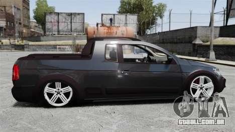 Volkswagen Saveiro Cross Edit para GTA 4 esquerda vista