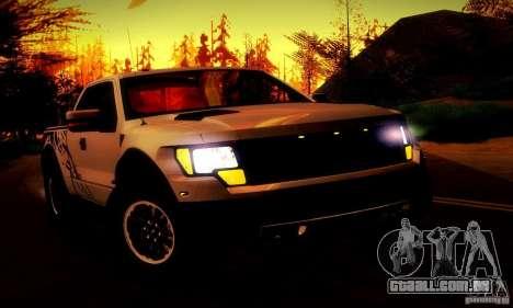 Ford F-150 SVT Raptor V1.0 para GTA San Andreas vista inferior