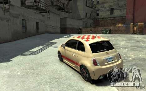 Fiat 500 Abarth Esseesse V1.0 para GTA 4 traseira esquerda vista